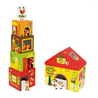 【法國Janod】盒中盒故事集-快樂農舍 J02801 /組