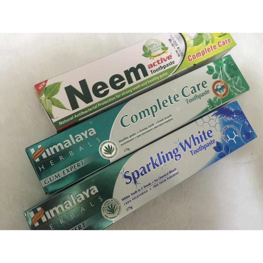 [綺異館] 印度牙膏 HIMALAYA 喜馬拉雅草本 亮白 清新 NEEM 苦楝ACTIVE 3 款任選混搭!