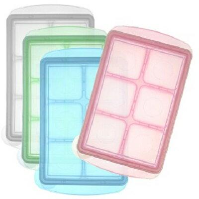 韓國JM Green新鮮凍副食品冷凍儲存分裝盒45g-L(6格)(4色隨機出貨)