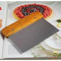 【刮刀-不銹鋼刀-木柄-3支/組】切面刀按板刀奶油刮刀刮板 蛋糕麵包烘焙工具(15*11.5cm) 3支/組-8001002