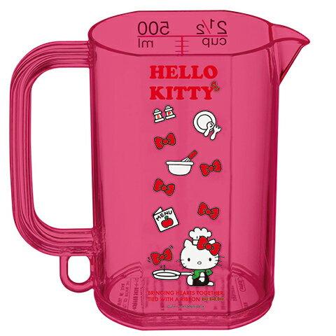 X射線【C254840】Hello Kitty 量杯(500ml),料理好幫手/日本製/量杯/調理/廚房