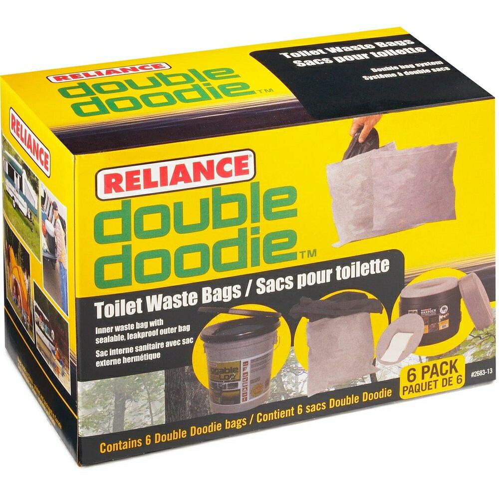 ├登山樂┤加拿大 RELIANCE DOUBLE DOODIE WASTE BAGS 拋棄式穢物袋(無凝劑) 六入 #2683-13