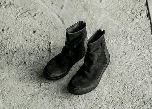 FINDSENSEMD日系高品質時尚潮男磨砂牛皮面高幫低跟休閒鞋短靴