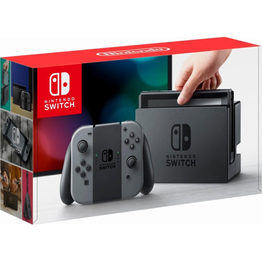Nintendo Switch Console with Gray Joy-Con Wireless Controller