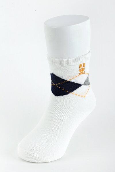【金‧安德森】兒童精典菱格短襪