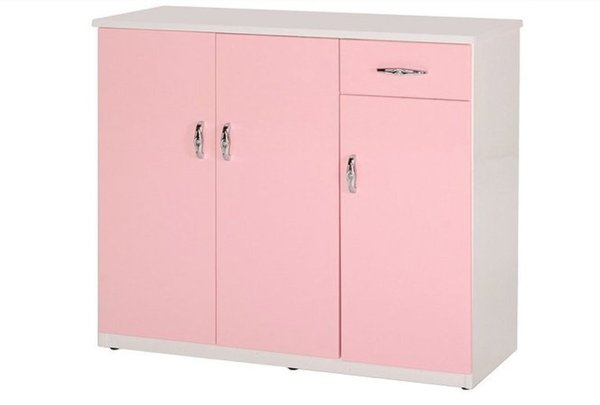 石川家居:【石川家居】864-01(粉紅白色)鞋櫃(CT-314)#訂製預購款式#環保塑鋼P無毒防霉易清潔