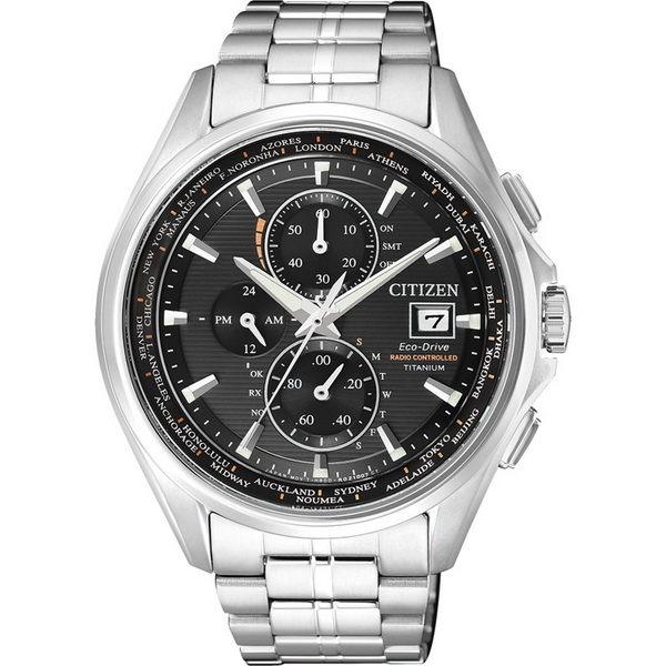 CITIZEN星辰AT8130-56E新世代電波商務光動能腕錶黑面43mm