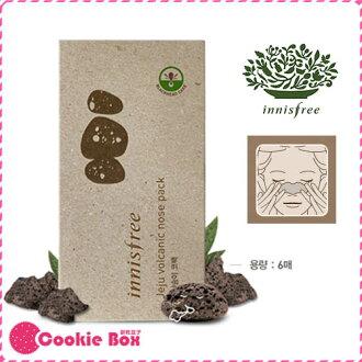 *餅乾盒子* 韓國 innisfree 火山泥 去黑頭 鼻貼 粉刺貼 白頭 粉刺 毛孔 清潔 妙鼻貼 (6片入)