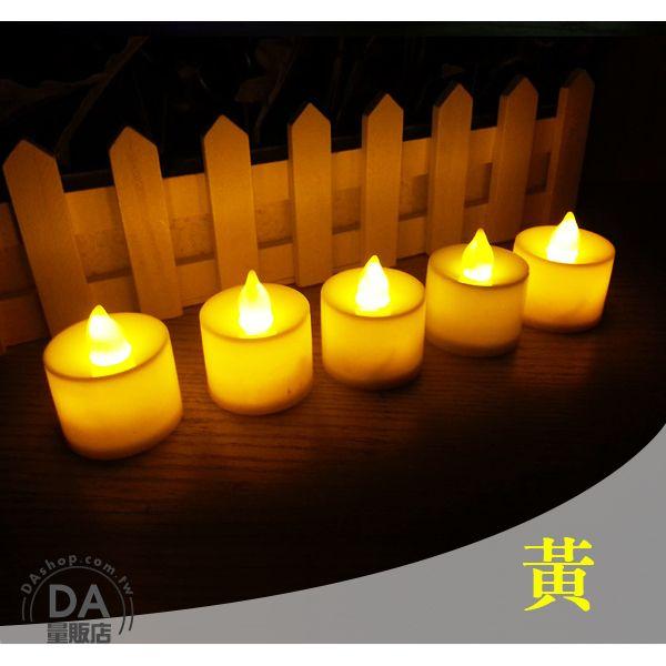 《DA量販店》黃色 LED 電子 蠟燭 造型燈 裝飾燈 浪漫 環保 安全 (22-265)