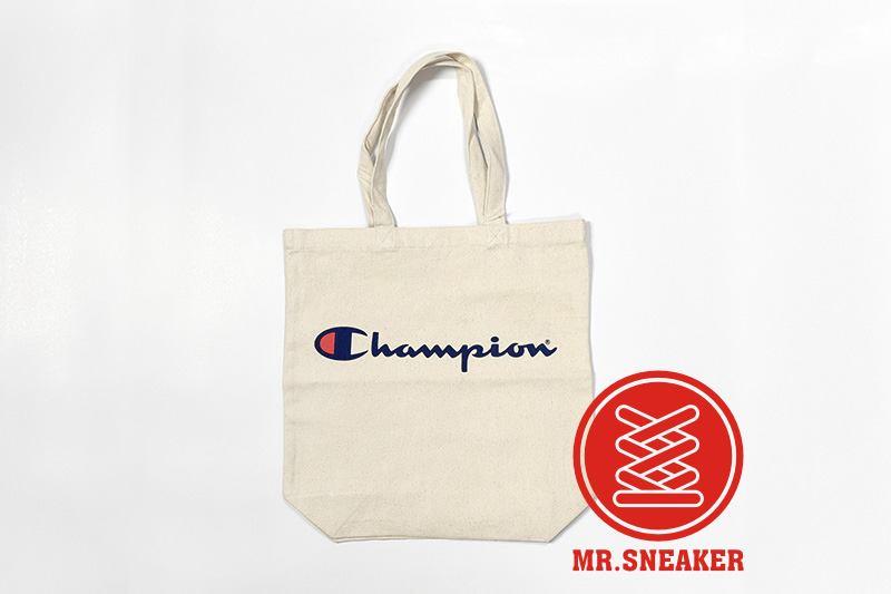 ☆Mr.Sneaker☆ Champion 帆布袋 草寫 LOGO 文青必備 實用/百搭