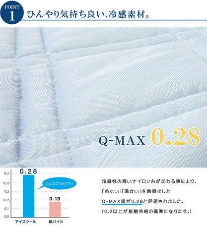 日本夏日接觸涼感系列 / 涼感保潔墊 / 涼墊100×200cm / 1563939。共1色-日本必買 日本樂天代購(3036*1.3) 3