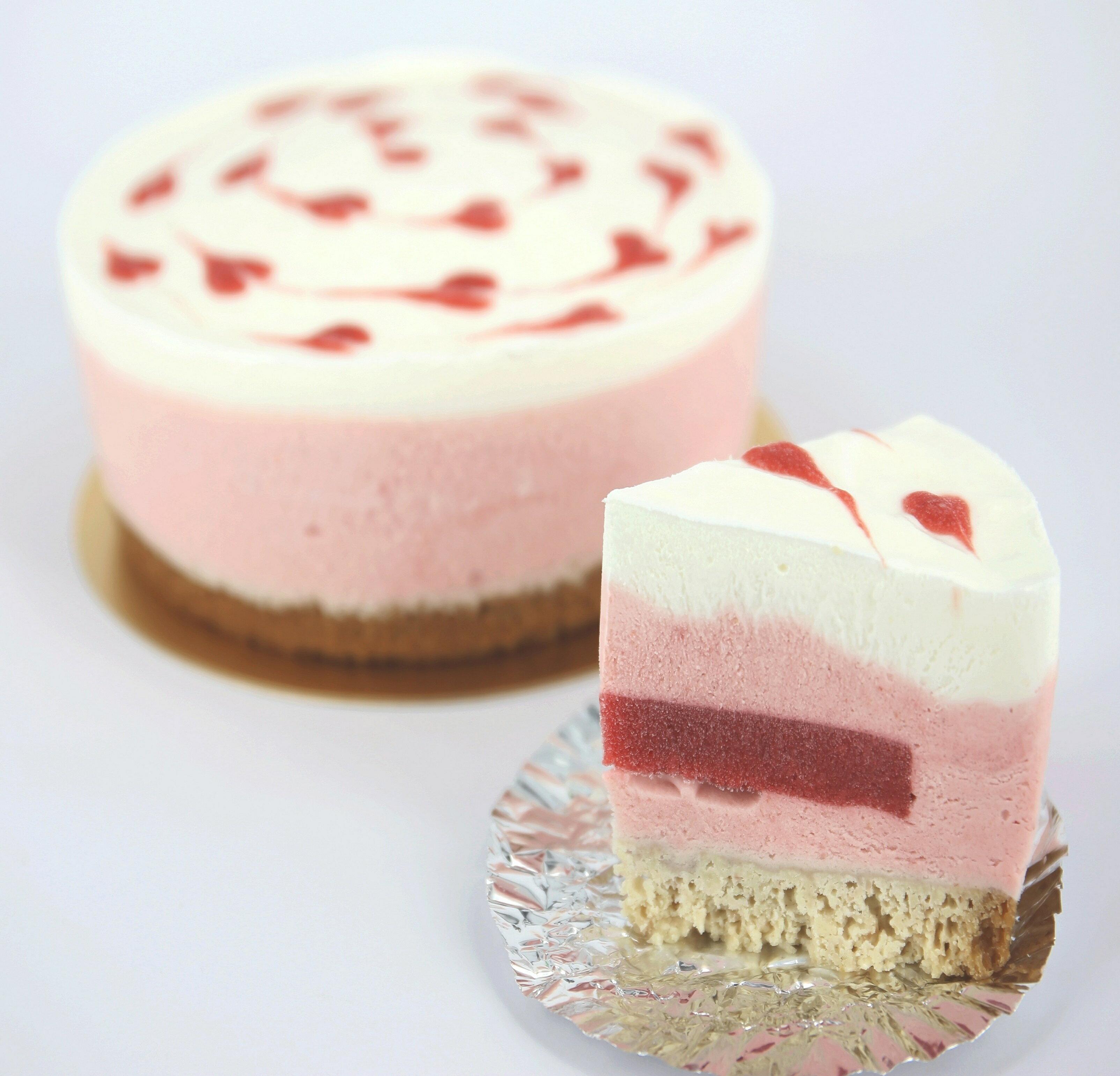 (葷)草莓慕斯+草莓夾心6吋 1