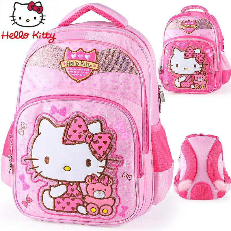 <br/><br/>  正版 Hello Kitty  凱蒂貓 兒童書包 小學生後背包 HK3285<br/><br/>