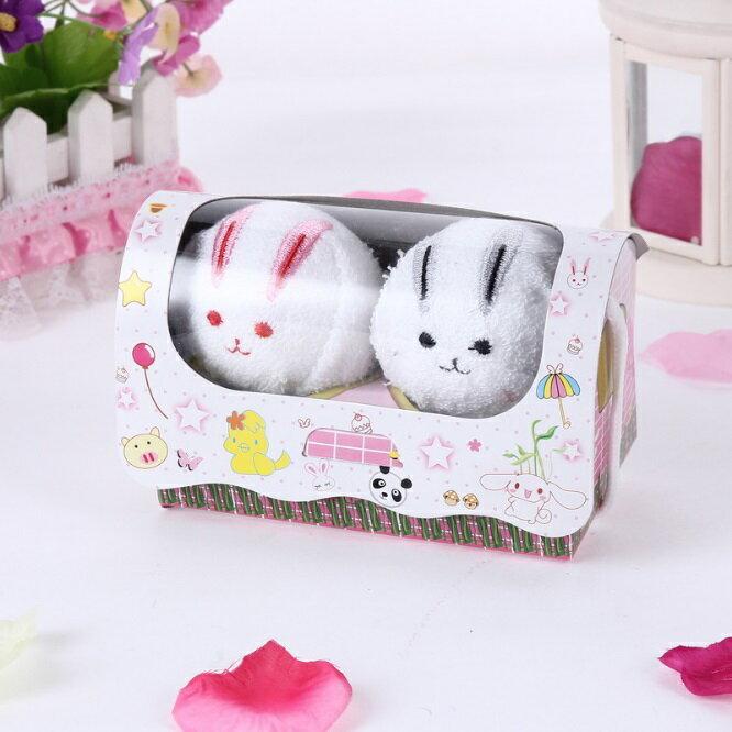 ☆創意小毛巾 兔子手帕-可愛動物造型紀念品情人節生日禮物生活用品4款73ja4【獨家進口】【米蘭精品】