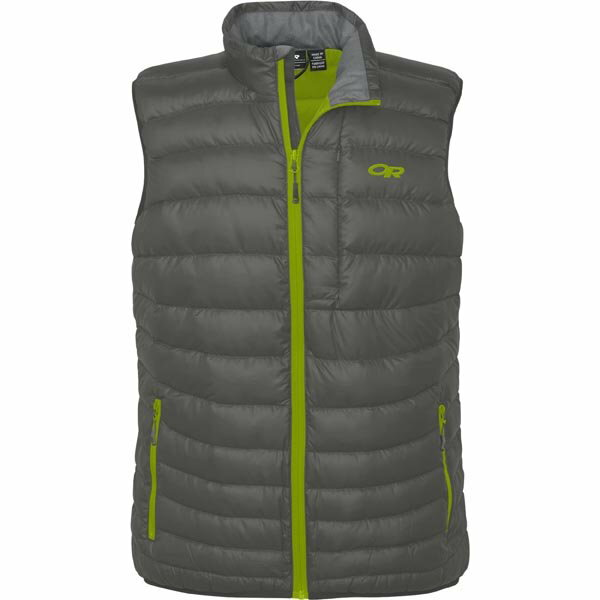 ├登山樂┤Outdoor Research Men's Transcendent Vest 鵝絨背心 灰綠#57582-054
