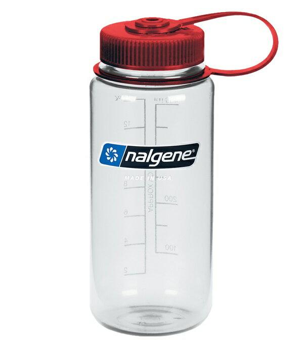 Nalgene 寬嘴水壺/運動水瓶/寬口瓶 Tritan 500cc 美國製 682009-0572 透明紅