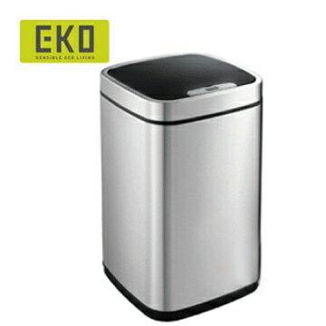 【HOME WORKING】EKO 臻美自動感應垃圾桶-9L(銀色)