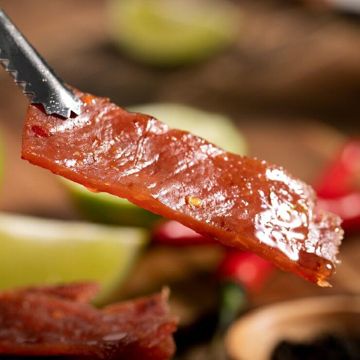嚴選泰式檸檬豬肉乾 200g / 包 肉乾 零嘴 台灣製造 新鮮食材 特選豬肉(含辣椒、檸檬) 2