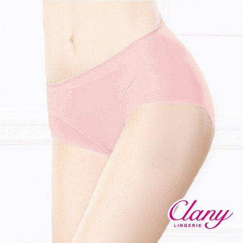 可蘭霓內衣:【可蘭霓Clany】健康抑菌竹炭中腰M-XL無痕內褲高雅粉2156-32