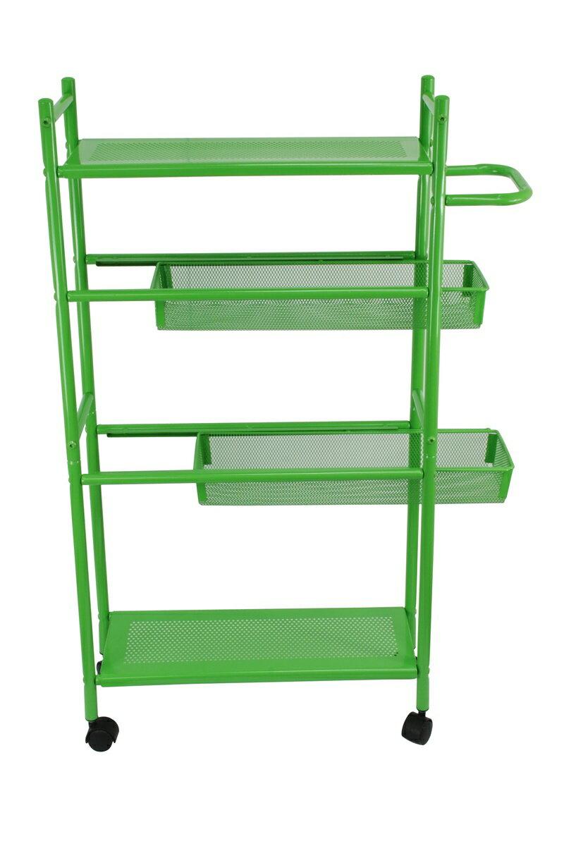 【凱樂絲】居家辦公兩用DIY 四層收納推車(粉綠款-寬16 cm) 角落空間利用, 附輪胎及把手, 容易移動 7
