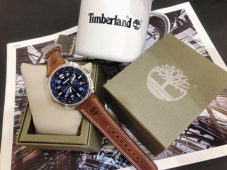 Timberland 天柏嵐 型男皮革時尚手錶 -TBL.15516JS / 03 藍  / 46mm 3