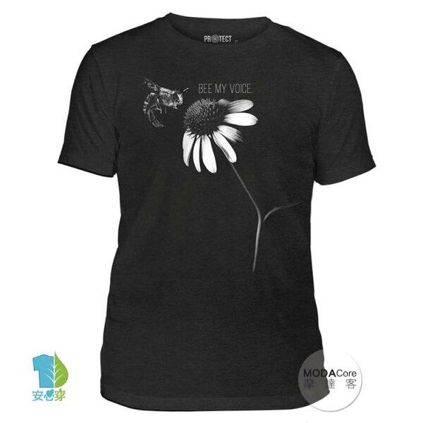 【摩達客】(預購)美國TheMountain保育系列蜜蜂之音中性短袖紀念T恤