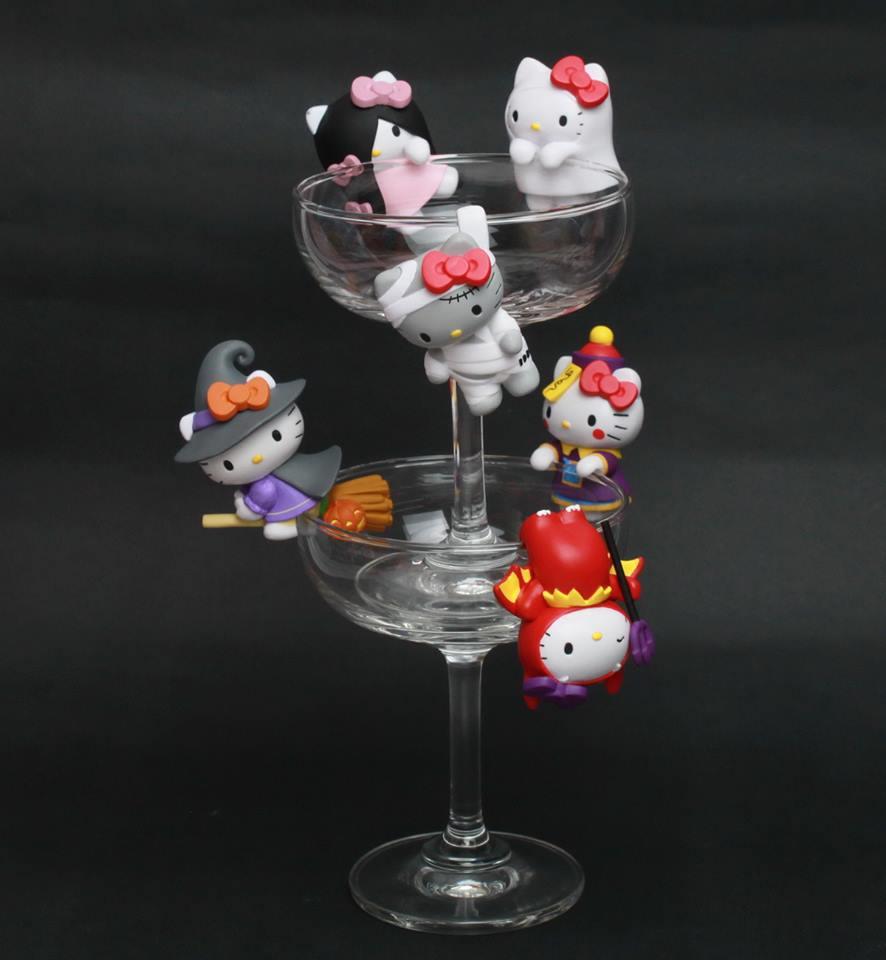 【UNIPRO】Hello Kitty 搞怪SHOW 杯緣子 萬聖節 搞怪秀公仔 三麗鷗正版授權 整套販售 KT