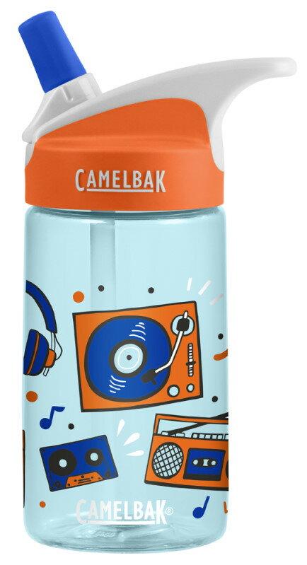 【【蘋果戶外】】美國 Camelbak 兒童彈跳式吸管水瓶 音樂派對 400ml 0.4L 0.4公升 登山水壺 單車水壺