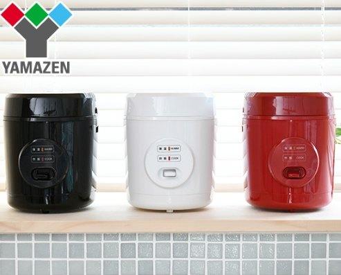 日本 一人用電子鍋 YAMAZEN 山善 YJE-M150 3色 1~2人份 迷你型電子鍋 電鍋 小電鍋日本必買代購