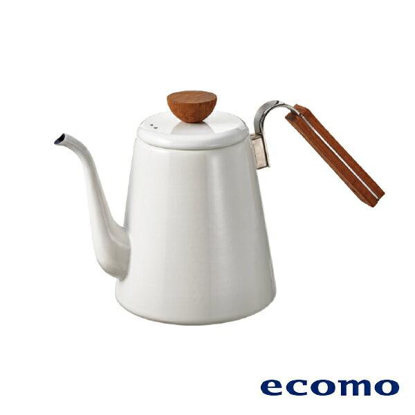 【領券現折+點數回饋$506】日本 ecomo ( AIM-CT104 ) cotto cotto IH電磁爐 x HARIO琺瑯細口壺組 1