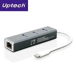 【迪特軍3C】Uptech NET138H U3.0 Type-C網卡 USB 3.0 Type-C網卡 + Hub 集線器