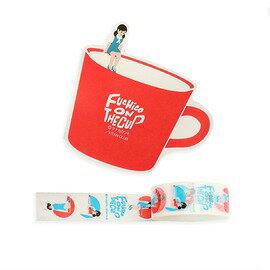 杯緣子紙膠帶單捲-杯緣子紅9077202《品文創》