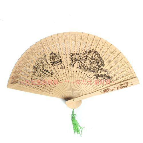 【九元生活百貨】香木扇 扇子 折扇