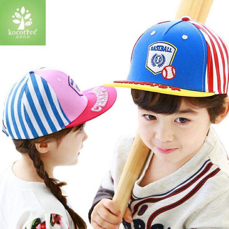 WallFree窩自在★時尚質感刺繡字母棒球徽章兒童休閒運動鴨舌棒球帽