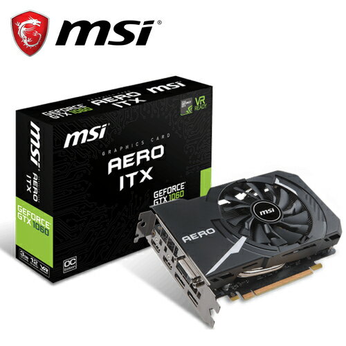 【MSI 微星】GeForce GTX 1060 AERO 3G OC 顯示卡【三井3C】