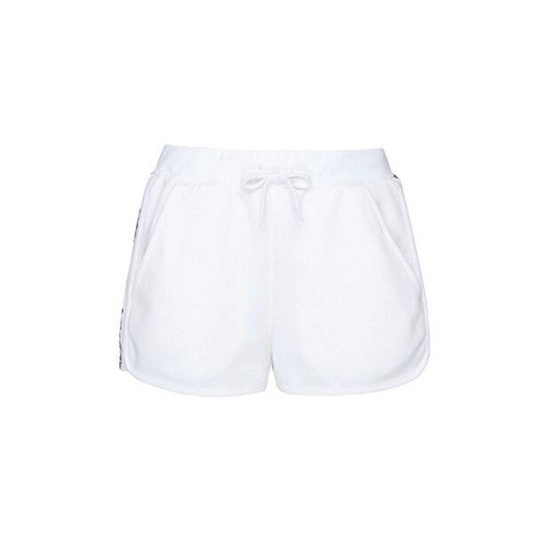 【滿額領券折$150】FILA 運動短褲 針織短褲 串標LOGO 白色 女生【5SHV-1436-WT】