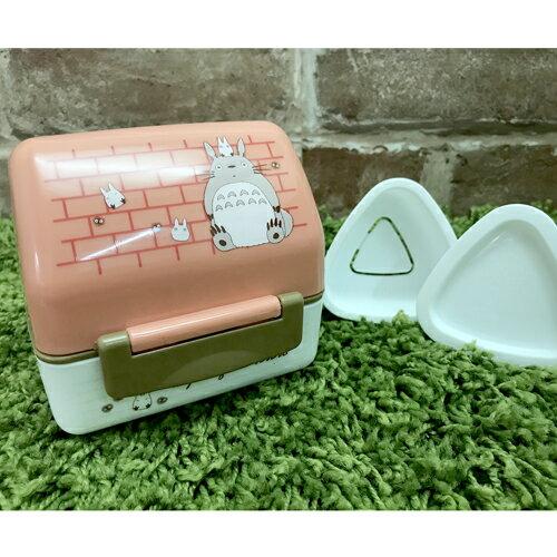 【真愛日本】 17062300021 日製三角飯糰便當盒附模型-龍貓房屋 龍貓 TOTORO 豆豆龍 模具
