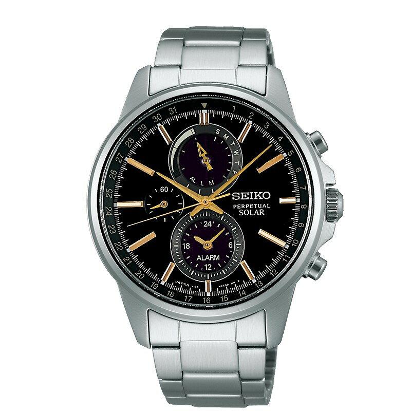 SEIKO SPIRIT 三眼計時太陽能錶/SBPJ007J(V198-0AC0K)