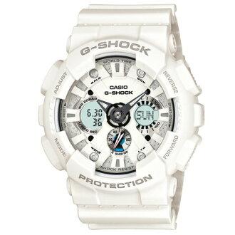 CASIO/G-SHOCK/雙顯潮流立体面運動錶/白/GA-120A-7ADR