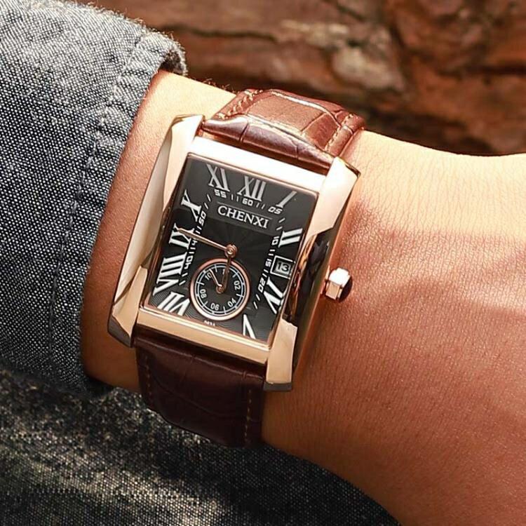 瑞士新款全自動手表男士名牌商務防水潮學生方形機械男表十大品牌