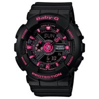 Casio Baby-G Black And Pink Ani-Digi Watch BA111-1A