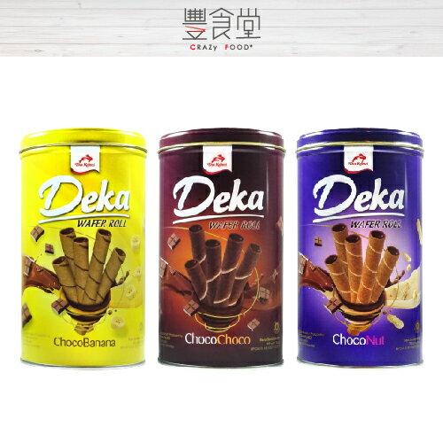 【印尼進口】Deka驚爆捲心酥花生巧克力香蕉巧克力360g【爆漿捲心酥】