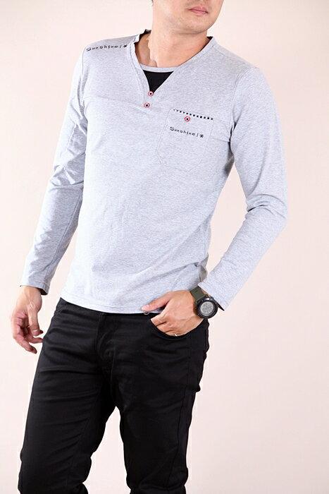 【CS衣舖 】 彈力伸縮 高質感 長袖T恤 3304 1