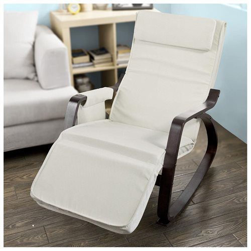 Haotian New Relax Rocking Chair Lounge Chair with Adjustable Footrest FST20-Wwhite & Haotiangroup: Haotian New Relax Rocking Chair Lounge Chair with ...