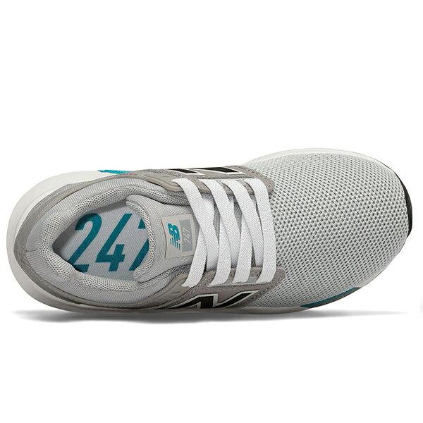 Shoestw【PH247FC】NEW BALANCE NB247 中童鞋 運動鞋 鬆緊帶 免綁帶 襪套 Wide 網布 灰白藍 2