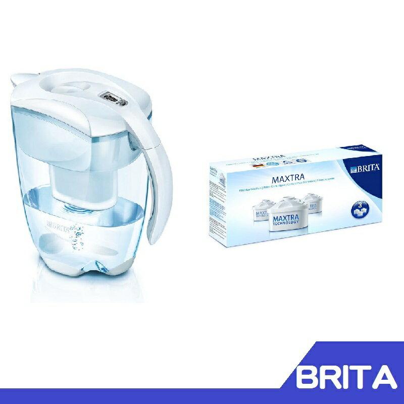 德國 BRITA 艾利馬Elemaris XL白色3.5公升 +濾心 三入一組【RH shop】代購