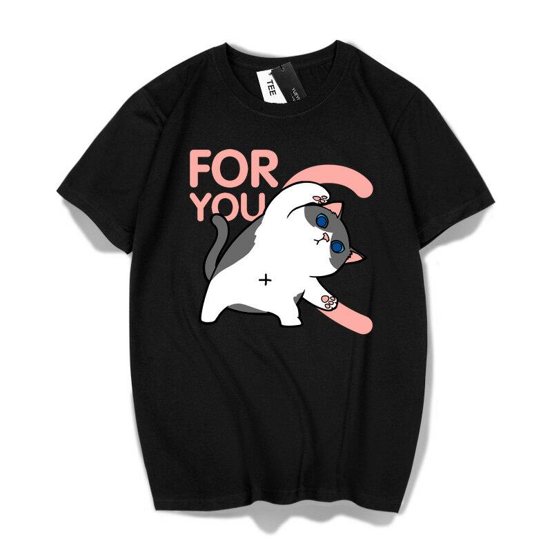 現貨 情侶裝 情侶T 潮T 圓領純棉T恤 MIT台灣製【Y0872】短袖 FOR YOU 愛心版合體柴犬賓士貓 1