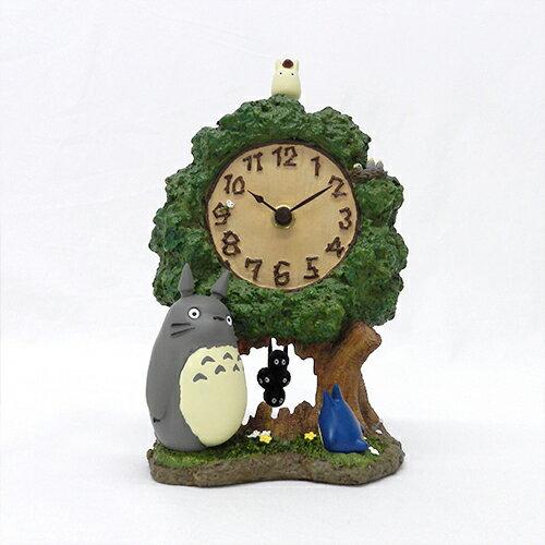 【真愛日本】16012800002時計-灰龍貓大樹  龍貓 宮崎駿 TOTORO 相框 時鐘相框 擺飾 生活居家