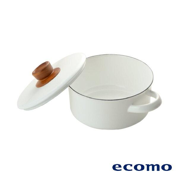 【領券現折+點數回饋$583】日本 ecomo ( AIM-CT101 ) cotto cotto IH電磁爐 x 富士琺瑯鍋組 1