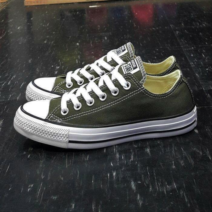 Converse Chuck Taylor All Star 基本款 低筒 帆布 綠色 墨綠色 軍綠色 151184C